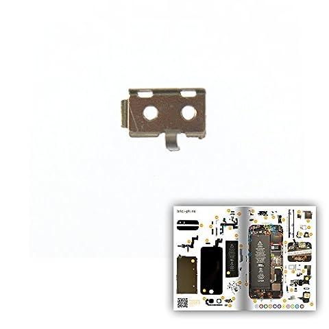 Petit cache de protection métallique pour iPhone 5S avec patron papier d'aide au montage offert