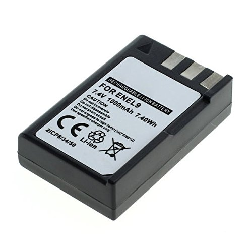 CELLONIC® Batería premium para Nikon D3000 Nikon D5000 Nikon D60 Nikon D40 Nikon D40x (1000mAh) EN-EL9,ENEL9a,EN EL9E bateria de repuesto, pila reemplazo, sustitución
