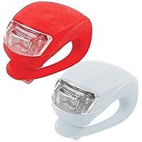 Un paio Bicicletta Luce Superbright luce luce di sicurezza mulitfunction, perfetto per il ciclismo e passeggiate con il cane, Uomo, Red and