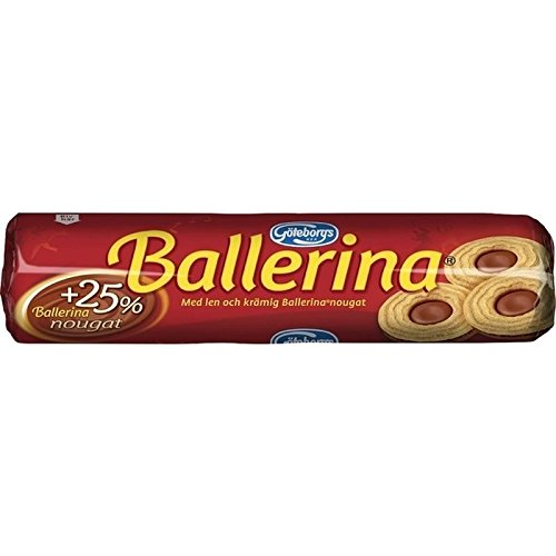 Ballerinas Schokolade (Goteborgs Ballerina Kex - Kekse Mit Nougatfüllung 190G - Packung mit 2)