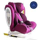 LETTAS Kinder Autositze Sitzschale Baby autositz 0+1/2/3 (0-36 kg) mit Protektoren seitliche Isofix ECE R44/04(ISOFIX Grau)