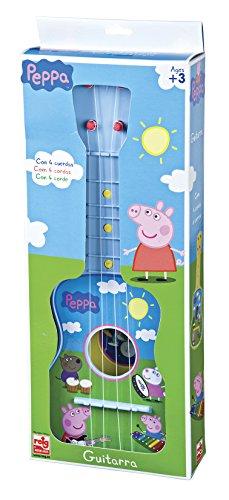 Peppa Pig – Guitarra en estuche, 4 cuerdas (Claudio Reig 2339.0), colores surtidos