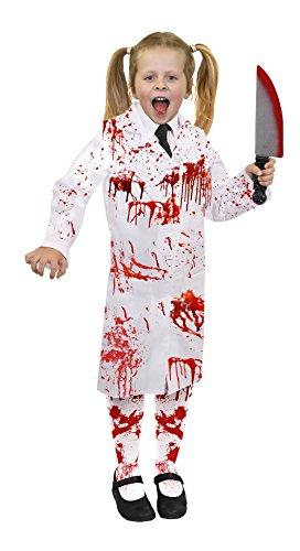 Irrenanstalt Kostüme Halloween (KINDER HALLOWEEN ZOMBIE = ARZTKITTEL ODER DER VERRÜCKTE PROFESSOR/ DER KLEINE DOKTOR = VON ILOVEFANCYDRESS®=ERHALTBAR IN VERSCHIEDENEN GRÖßEN = DIE PERFEKTE KINDER HALLOWEEN KOSTÜM VERKLEIDUNG = JEDES KOSTÜM BEINHALTET =)