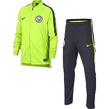 low priced b63c9 e2e3a Nike MCFC Y Nk Dry Sqd TRK K Chándal, Unisex niños, (Volt Dark