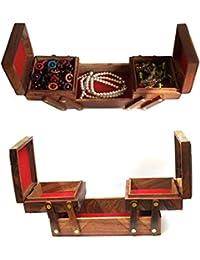 joyero de madera rellena elefante centro trabaja con 2 plegado 8 X 4 caso de la vendimia, caja de joyería, joyería de almacenamiento, caja de joyería decorativa, Acción de Gracias y de la Navidad