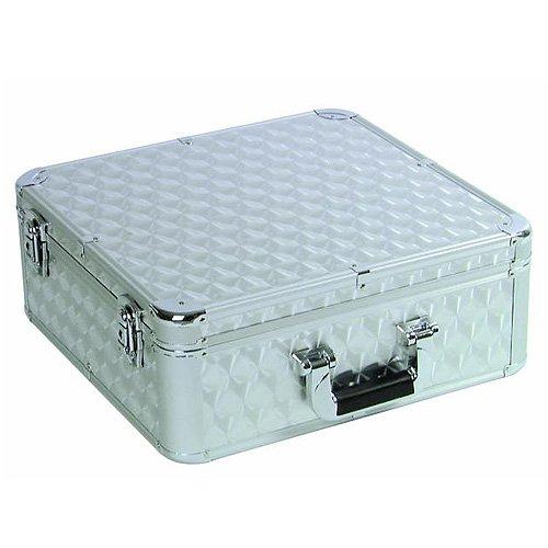 Roadinger 30122053 Aluminium poliert Hülle für 100 CD