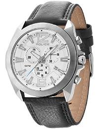 Police.  14104JS/04 - Reloj de cuarzo para hombre, con correa de cuero, color negro