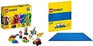 Lego Basic Brick Set with Blue Baseplate