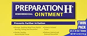 Preparation H Hemorrhoidal Ointment - 4 oz TOTAL (2 oz x 2 tubes)