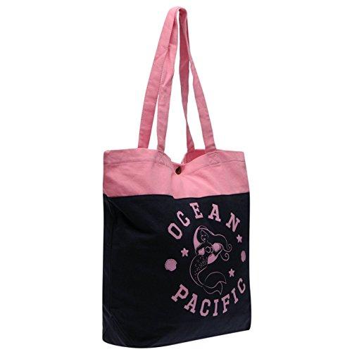 ocean-pacific-mermaid-print-tasche-damen-navy-pink-damen-shopper-handtasche-navy-pink