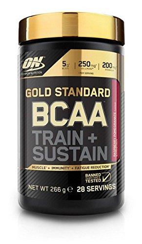 Optimum Nutrition Gold Standard BCAA Train & Sustain, Frambuesa y Granada - 266 g