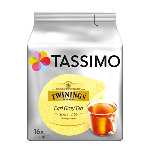 Tassimo Twinings Earl Grey Tea 16 pods - Pack of 5 (80 Servings)