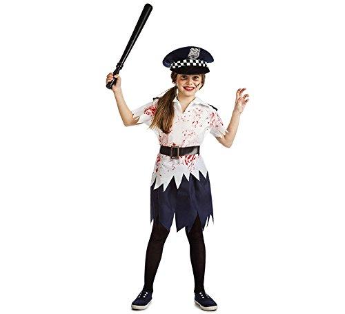 Imagen de disfraz policia zombi niña talla 10 12 años