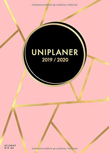 Uniplaner 2019 - 2020 Din A5 Student: Studienplaner 1 Woche auf 2 Seiten, modisch rosa gemustert, Timer, Studium Kalender und Semesteplaner von ... und Monatsplaner Studenten, Band 2020) - Ring Timer