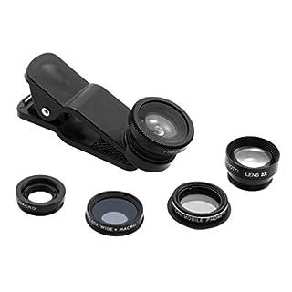 ArktisPRO 5-in-1 Fisheye - Macro & Weitwinkel Objektiv Kamera Smartphone-Echtglaslinsen-Set und Polfilter für Apple iPhone, Samsung, LG und Co.