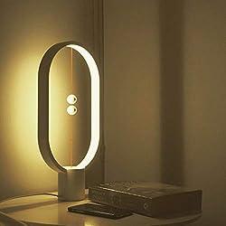 Konstante Balance Lampe - elliptische magnetische Midair Switch USB LED-Licht, Warm Eye Care LED-Licht, Nachtlicht, Tischlampe, Schlafzimmer Dekor, Wohnzimmer, Restaurant und Büro (Weiß)