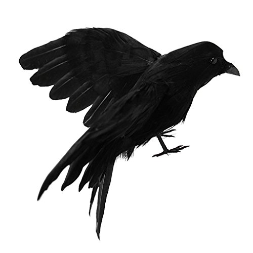 abe Krähe Vögel Figuren mit Schwarzen Federn, Gothic Dekor für Thema Party/Halloween - #5 ()
