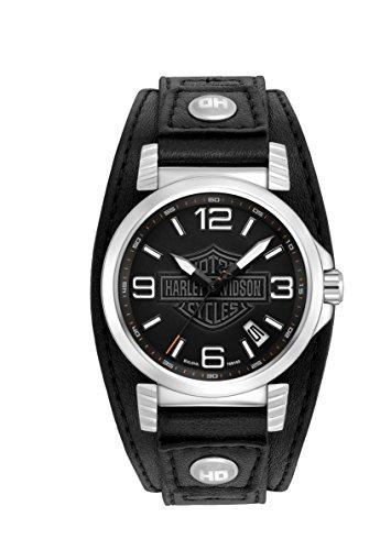harley-davidson-76b163-montre-homme-quartz-analogique-bracelet-cuir-noir