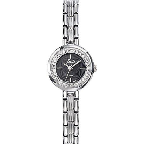 Joalia-633339-Orologio da donna con cinturino in metallo con quadrante nero argento