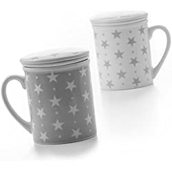 LAS COSAS QUE IMPORTAN Tasse mit Filter und Deckel für Sie Tee Breakfast