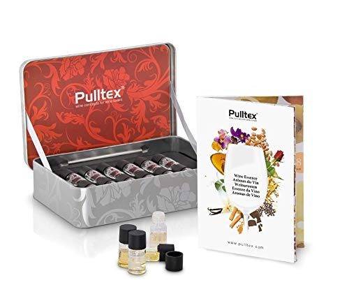 Set de esencias para educar el olfato a diferenciar las diferentes notas olfativas del vino. Contiene 12 frascos de aromas que se encuentran habitualmente en el vino tinto, Se acompaña de un libro con explicaciones y descripciones de todos los aromas...
