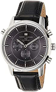 Tommy Hilfiger Harrison Men's Gray Dial Leather Chronograph Watch - 179