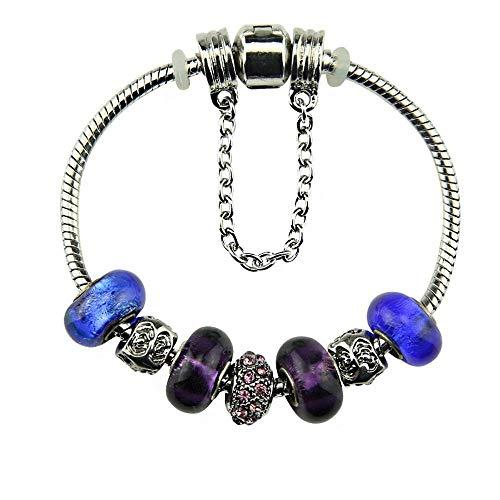 ChuangYing Silber Folie Armband Europäische Mode kreative DIY Glas Armband