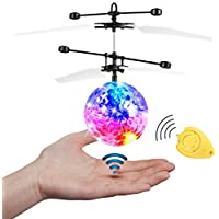 JAMSWALL RC Flying Ball, Flying Kid Toy with Remote Control, Infrared Induction Helicopter Ball Drone for Boys Girls Kids Teenagers Adults