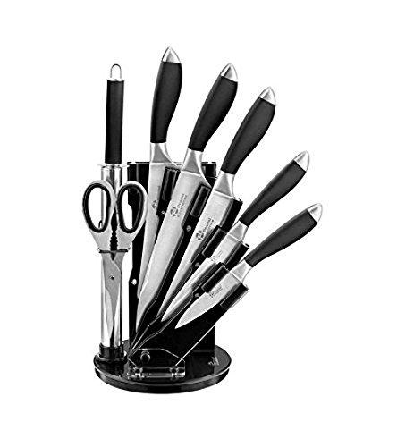 Pradel Excellence - I7408N - Bloc de 5 Couteaux de Cuisine Noir