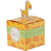 suxian ca. 100PCS Giraffe Tiere Candy Boxen Geburtstag Party, für Baby Geschenke