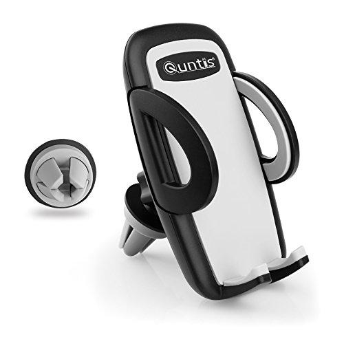Quntis ® Premium Qualität tragbare Auto Lüftungsschlitz Halter Halterung für iPhone 7 7 Plus 6 6 plus iPhoneSE 5 5s 5c 4 4s Android Samsung Galaxy S5 S4 und andere Smartphones(Schwarz)