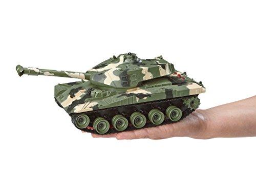 Revell Control 24224 - RC Panzer Set, Battle Game POWER TRACKS, 2 RC Panzer mit Infrarot-Schussfunktion, Soundmodul, Rückstoßeffekt, Mündungsfeuer-LED, Kettenlaufwerk mit Gummikette, MHz - 4