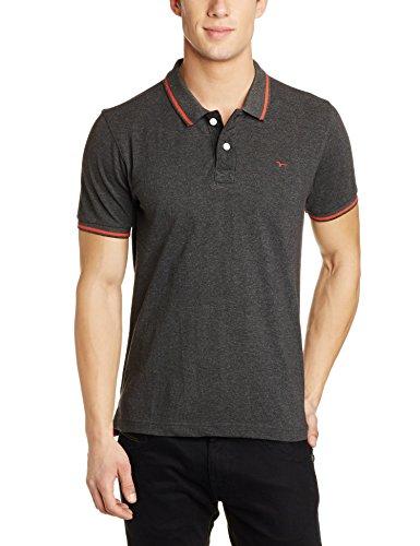 Flying Machine Men's T-Shirt (8907378375315_FMTS7807_XL_Anthra)
