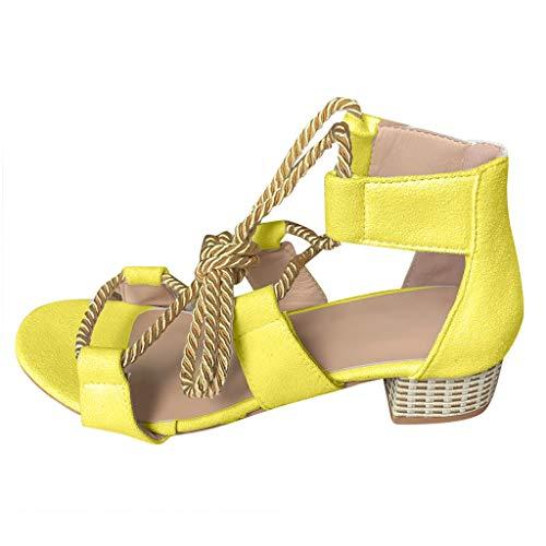 andalen Damen Schuhe mit hohen Absätzen Party Hochzeit Abend Sommer hochhackige Absatzschuhe Hohe Sandaletten sandals Bunt römische Stiefel Fischmaul Cross Strap Rutschfest boho ()