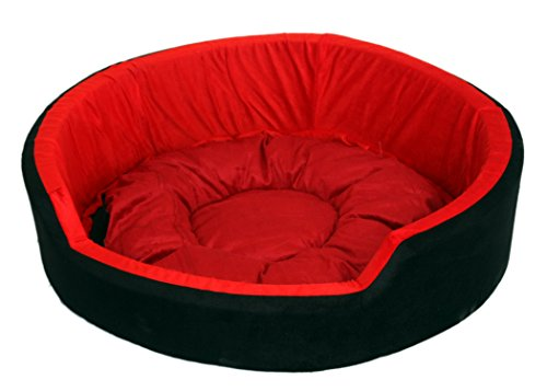 Pet Club51 Standard Dog Bed -Large-Red&Brown