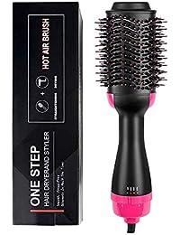 HruiZ One Step Hair Dryer & Volumizer Hair Dryer & Volumizing Styler Combine 3-en-1 Ion Negativo Cepillo para alisado Salon Salon Plancha…