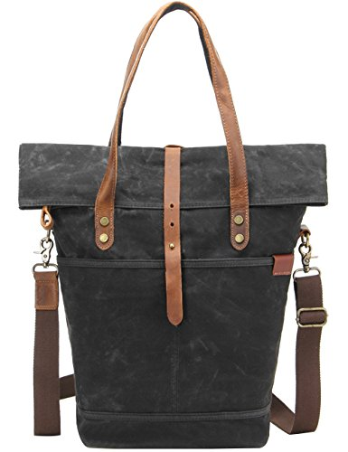 Menschwear Impermeabile Vintage Canvas Messenger Bags Casual Spalla Dell'imbracatura Pacchetto Daypack Beige Nero