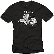 Camiseta Scooter 125 Vintage Primavera - T-Shirt negro hombre