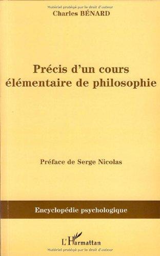 Précis d'un cours élémentaire de philosophie : (1845)
