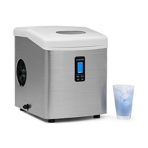41xRNMEeP5L. SS500  - Klarstein Mr. Silver Frost Ice Maker with Absolutely Tasteless Plastic Lining and Pump System Easy-to-Clean Stainless Steel (150W, 3.3L Tank, Low Operating Noise)
