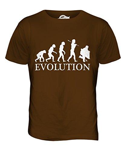 CandyMix Installateur Klempner Evolution Des Menschen Herren T Shirt Braun