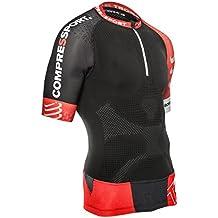 Compress port Trail Running Camiseta V2Jogging Deporte Correr Triathlon manga corta, color  - negro, tamaño T3 (Maßtabelle->siehe Bild Nr.2)