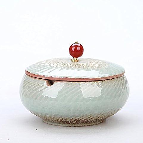 Cendrier en céramique chinois avec une couverture rétro personnalité créative cadeau fumée de cigare et fumer une petite table à café décoration de la maison , #18