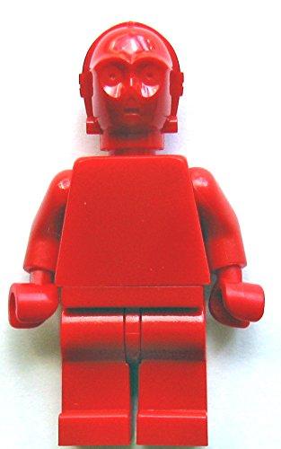 LEGO Star Wars Minifigur: R-3PO Prototyp, komplett in rot, ohne Jede Bedruckung (Sammlerstück)