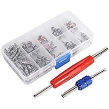 Juego de 102 piezas de núcleos de válvula y herramientas de extracción de núcleos de válvula