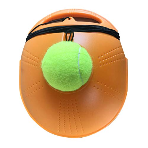 CHANNIKO-DE Tennis Ball Base Trainer Set with Long Rubber Elastic Rope Band for Single Person Practice Tennis Trainer Aids