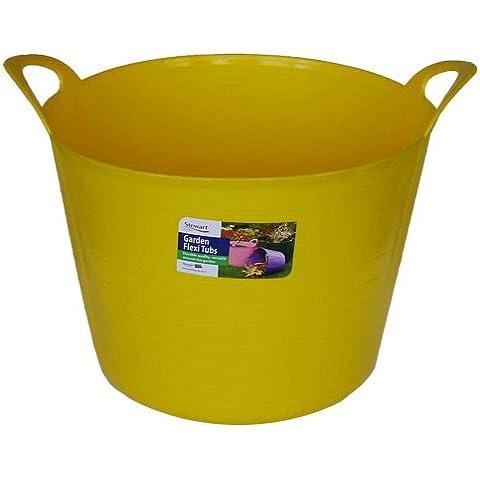 Stewart - Vaso da fiori flessibile, 40 L, colore: Giallo