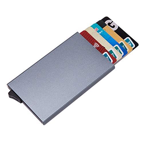 Diebstahlsicherer Scheckkarten Kasten, Selou Hochwertiges Aluminiumoxid Einfarbig Automatisches Pop Up Kreditkartenetui Shopper Wasserdicht Outdoor SchlüSsel Rucksack Tasche