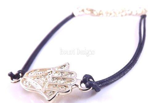 Gold Freundschaft Armband Böses Auge Kaballah Hand der Fatima ()
