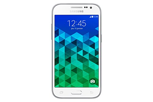 Samsung Galaxy Core Prime Value Edition Smartphone débloqué 4G (Ecran : 4,5 pouces - 8 Go - Simple MicroSIM - Android 5.1 Lollipop) Blanc